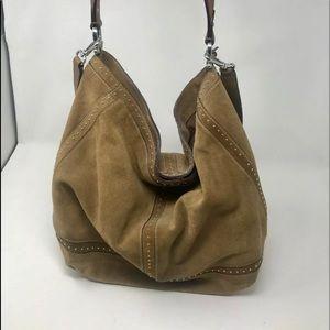Ralph Lauren Suede Hobo Style Bag